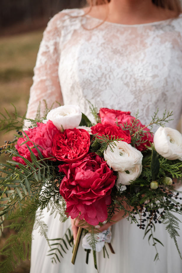 Gorgeous Peony Wedding Bouquet - Kathy Beaver Photography