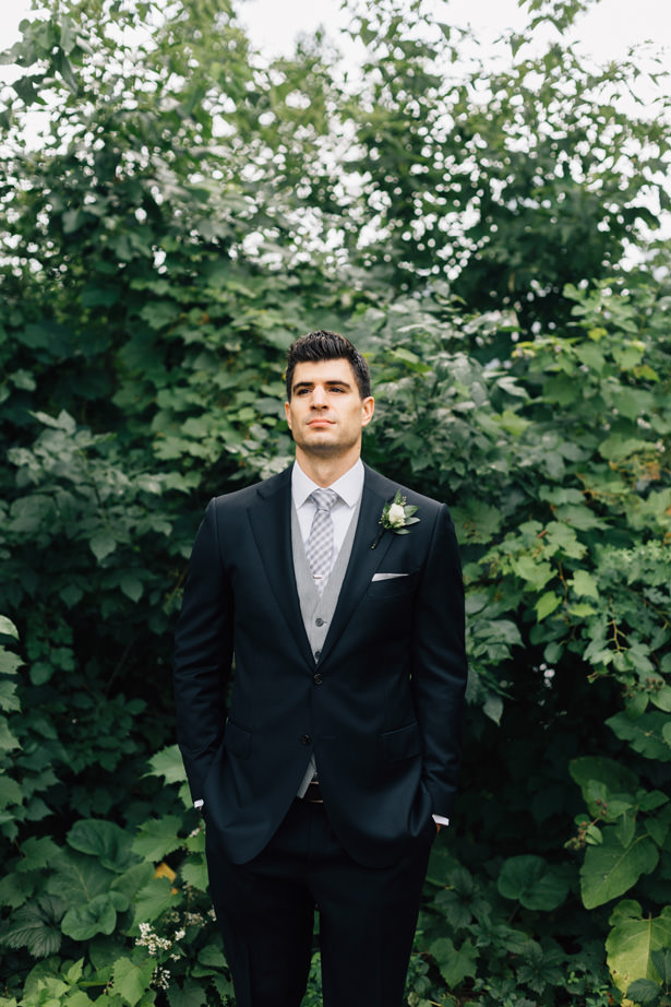 Grooms Black and grey suit - Justina Louise Photography