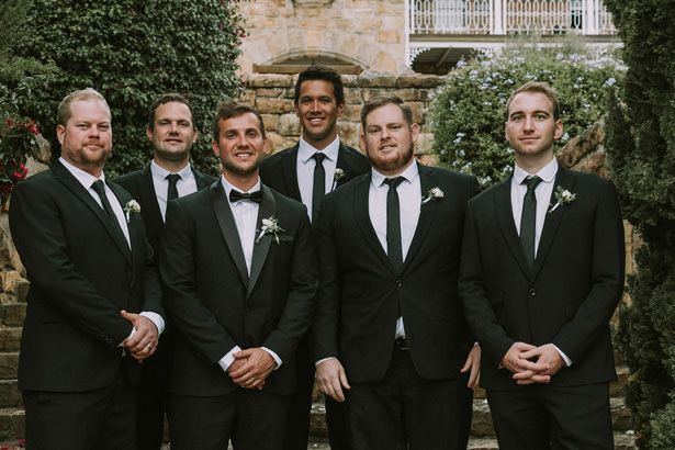 Groomsmen Black Suit and Tie - Bianca Asher Photography