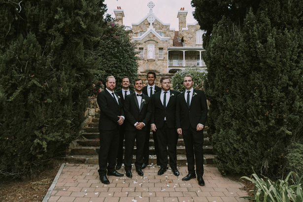 Groomsmen Classic Black Suits - Bianca Asher Photography