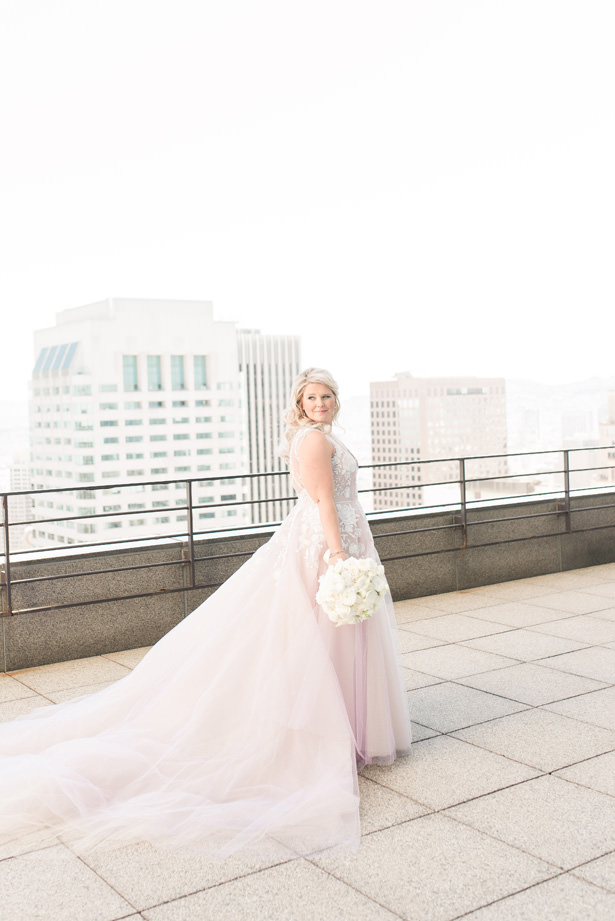Hayley paige Blush ballgown wedding dress - 1985 Luke Photography
