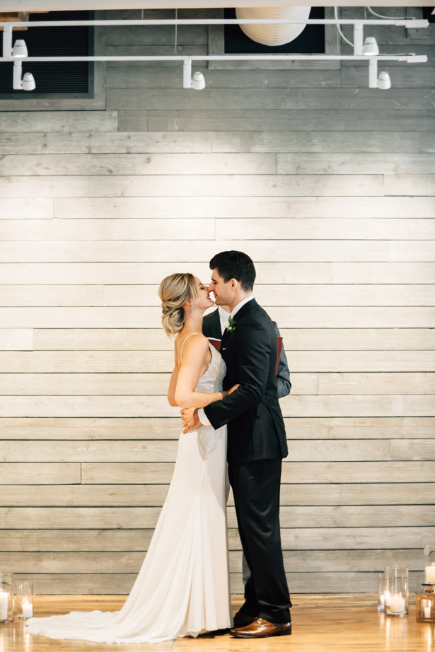 Modern Industrial Wedding ceremony - Justina Louise Photography