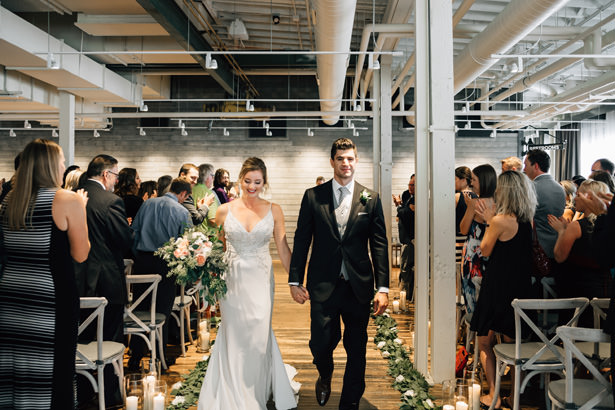 Indoor wedding ceremony - Justina Louise Photography