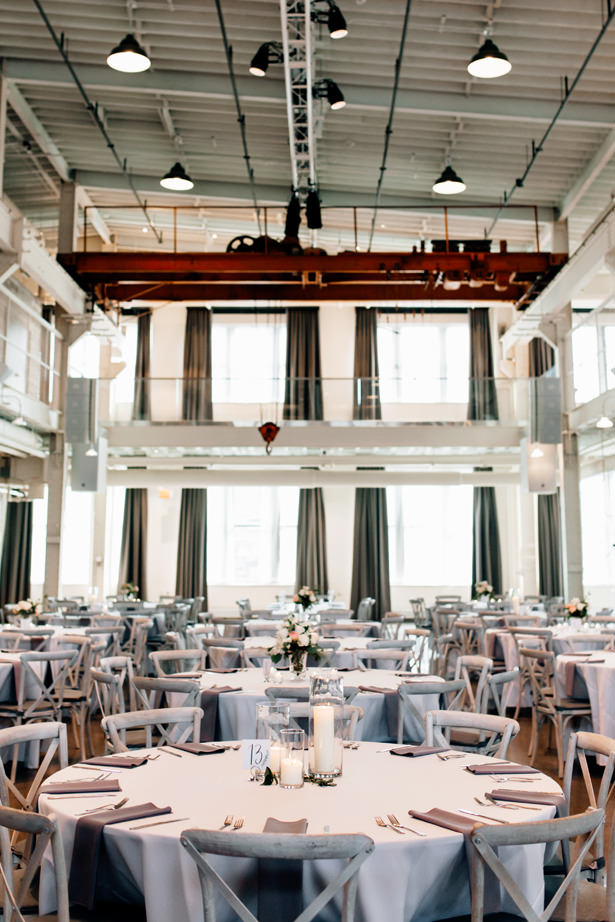 Romantic Industrial wedding reception Decor - Justina Louise Photography
