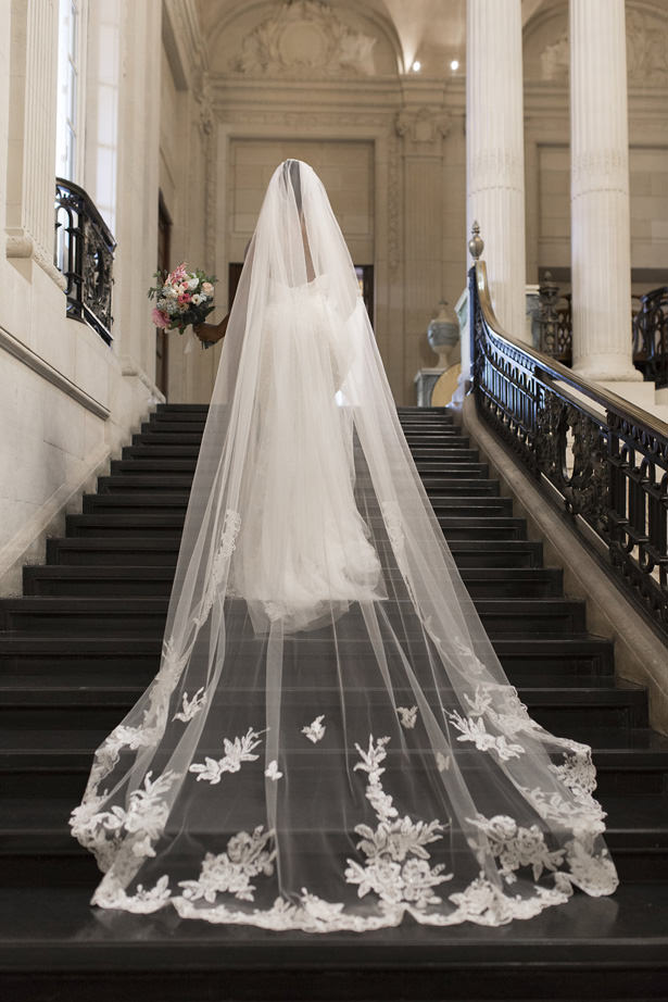 Lace Long Wedding Veil - Sophie Lake Photography