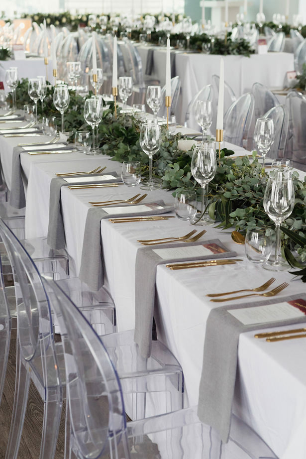 Long moderng wedding table - Bianca Asher Photography