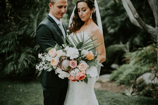 Luxe Tropical Wedding Bouquet - Amy Lynn Photography