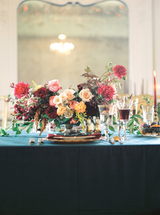 Luxe Wedding Table Centerpiece - Rachel Elaine Photo