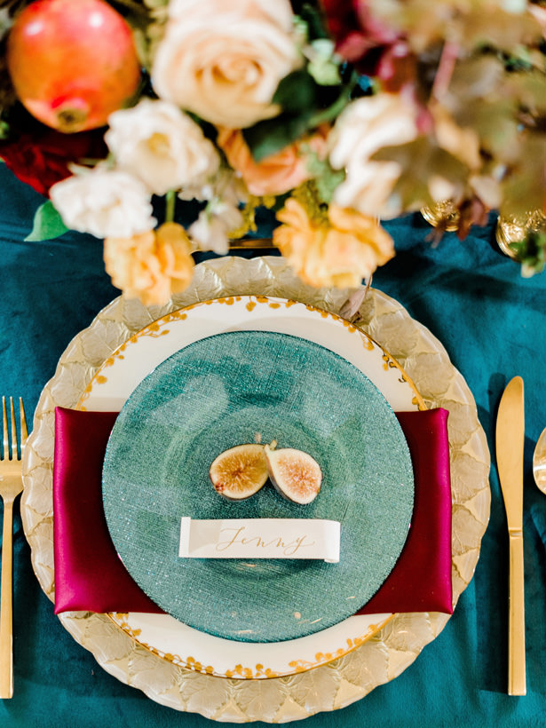 Luxury Wedding Plate Setting - Rachel Elaine Photo