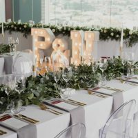 Modern Wedding table decor and greenery details - Bianca Asher Photography