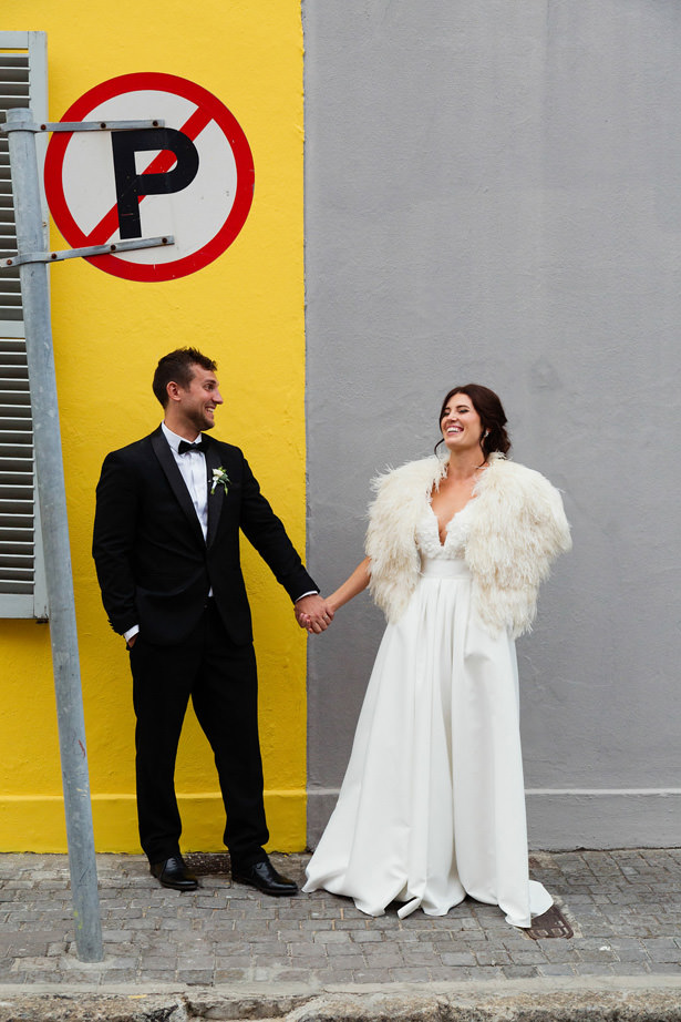 Ostrich Feather Couture Wedding Cape - Bianca Asher Photography