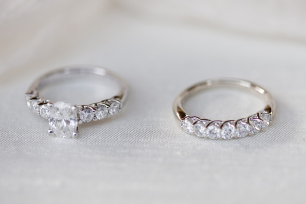 Oval Diamond Classic Wedding Ring Set - Kathy Beaver Photography
