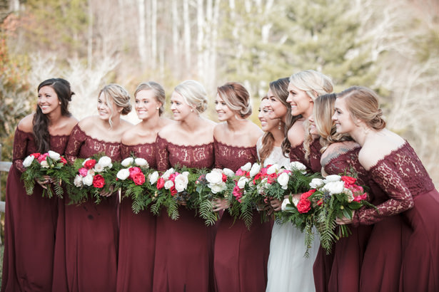 Peony Bridal Party Bouquets - Kathy Beaver Photography
