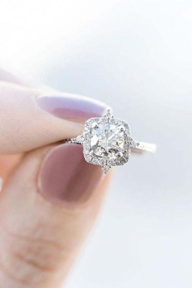 Platinum Engagement Ring - Ring Shane Co