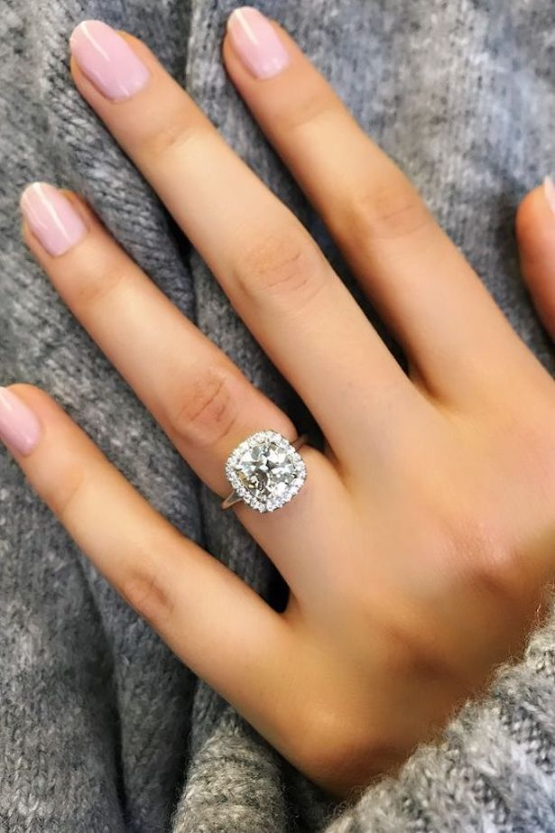 Platinum Engagement Ring - David Alan Jewelry