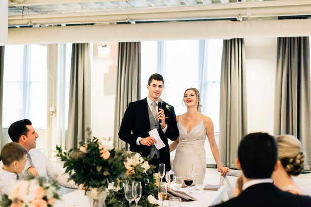 Romantic elegance wedding toast - Justina Louise Photography