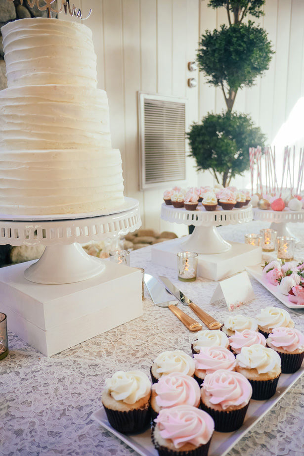 Sophisticated Wedding Cake Table - Yunis Chen Photography