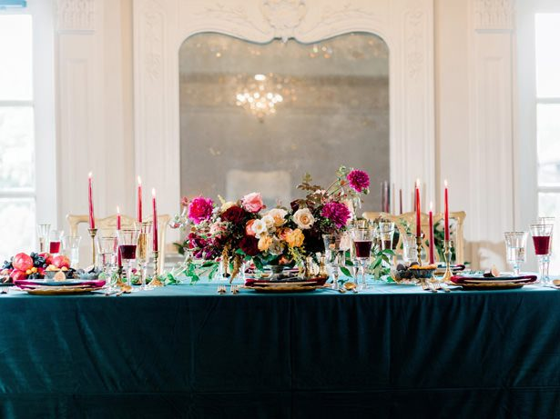 Sophisticated Fall Wedding Inspiration with Gorgeous Jewel Tones