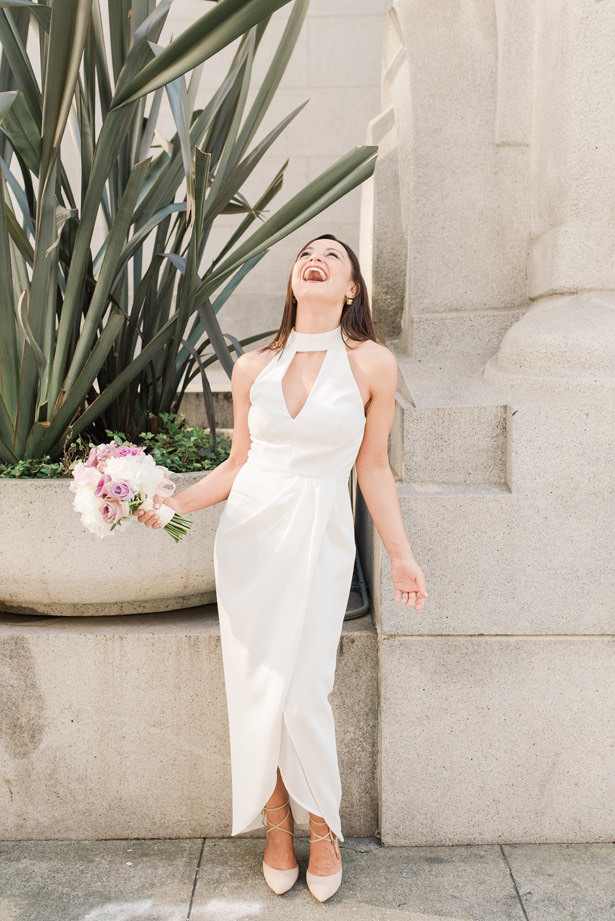 Stylish Long white bridesmaid dress - 1985 Luke Photography