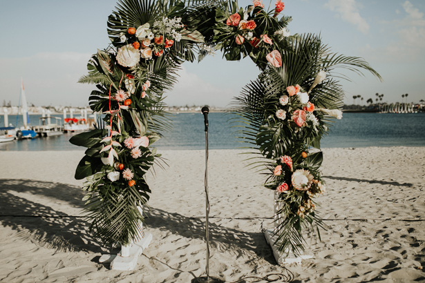 Tropical Wedding Arch - Amy Lynn Photography