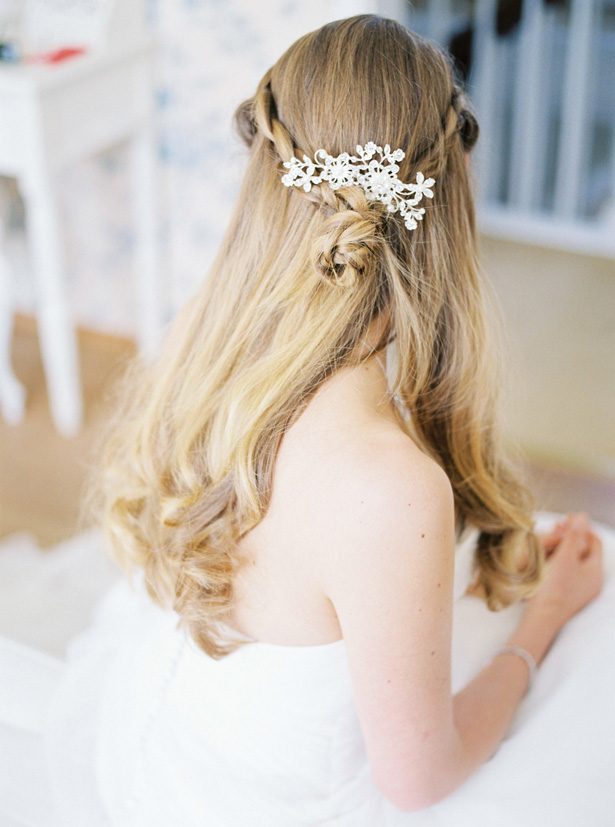 Wedding hairstyle with headpiece - Sergio Sorrentino Fotografie