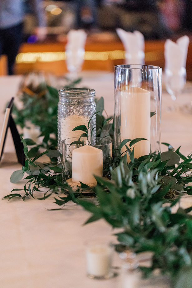 Wedding table candles - Holly Marie Photography