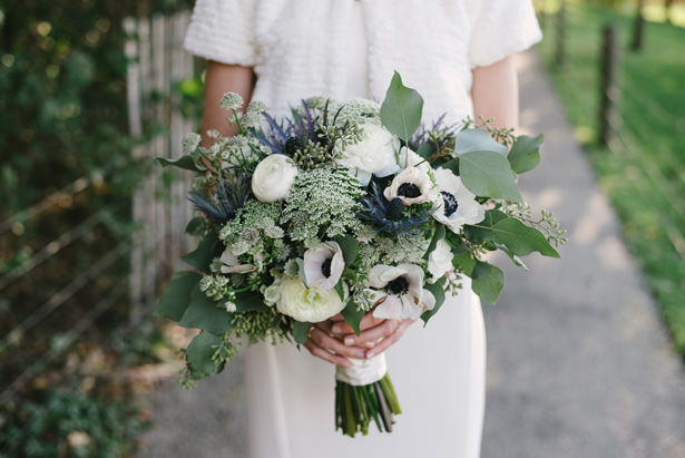 White and Green Weeding Bouquet - Williamsburg Photo Studios