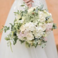 White roses classic wedding bouquet - Sephory Photography