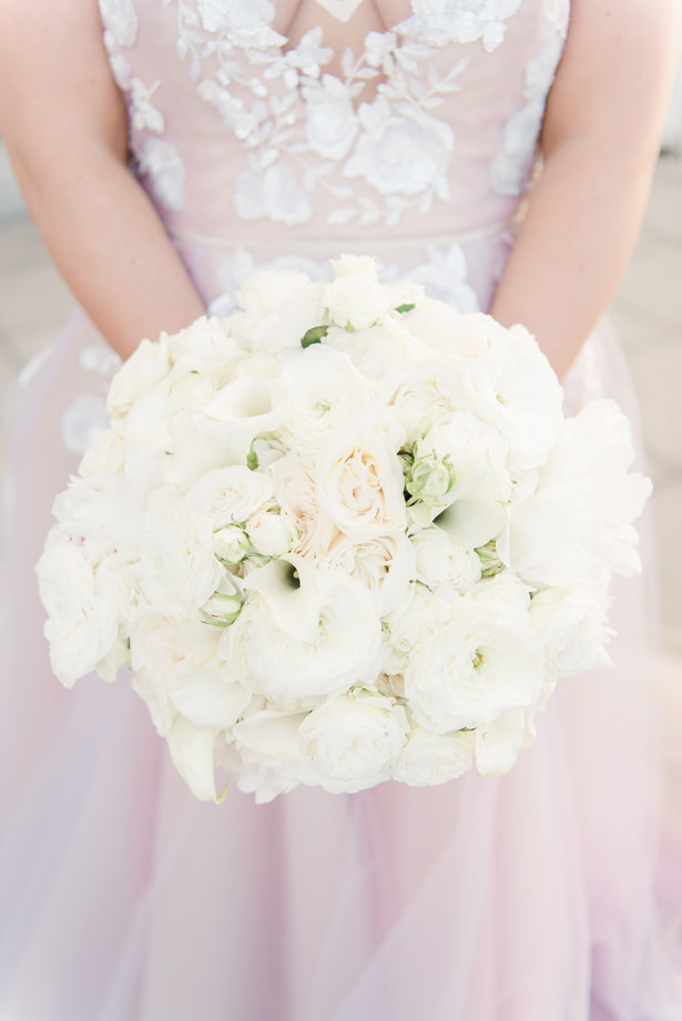 White roses classic wedding bouquet - 1985 Luke Photography