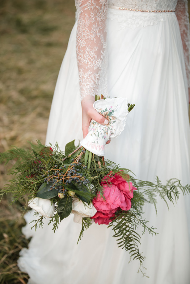 Winter Wedding Bouquet - Kathy Beaver Photography