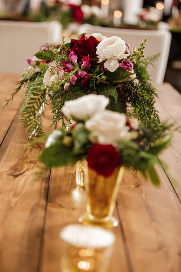 Winter Wedding Flowers - Kathy Beaver Photography