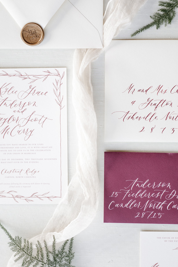Winter Wedding Invitation - Kathy Beaver Photography