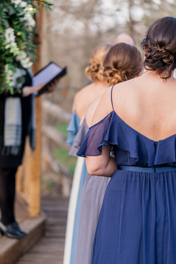 blue bridesmaid dress - Holly Marie Photography