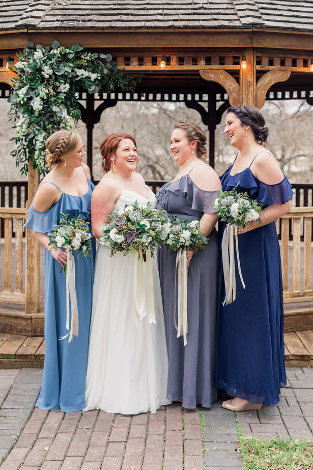 bridal party succulent bouquets - Holly Marie Photography