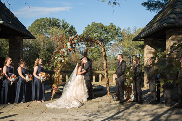 fall wedding ceremony - Imagine It Photography
