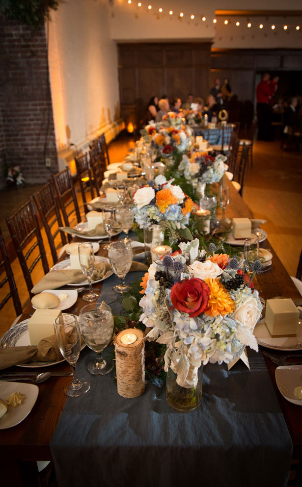 long fall wedding table - Imagine It Photography