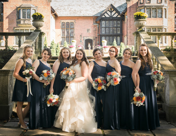 long navy blue Bridesmaid dresses - Imagine It Photography