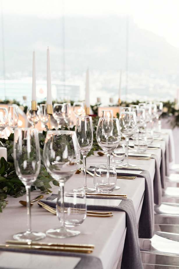 modern long wedding table - Bianca Asher Photography