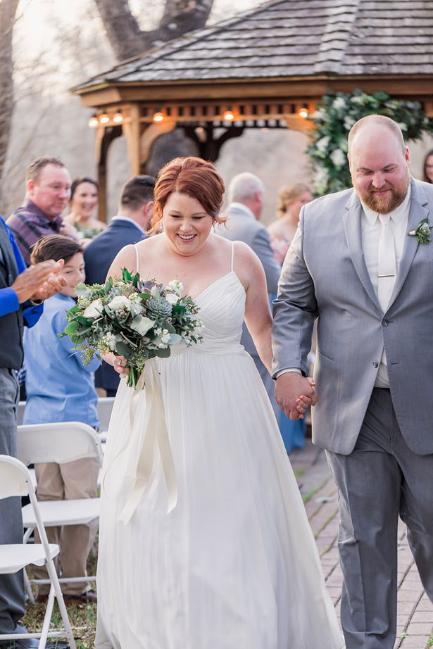 outdoor wedding ceremony - Holly Marie Photography