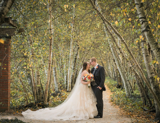 romantic fall wedding photo - Imagine It Photography