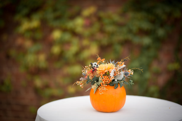 short fall wedding centerpiece - Imagine It Photography