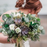 succulent wedding bouquet - Holly Marie Photography