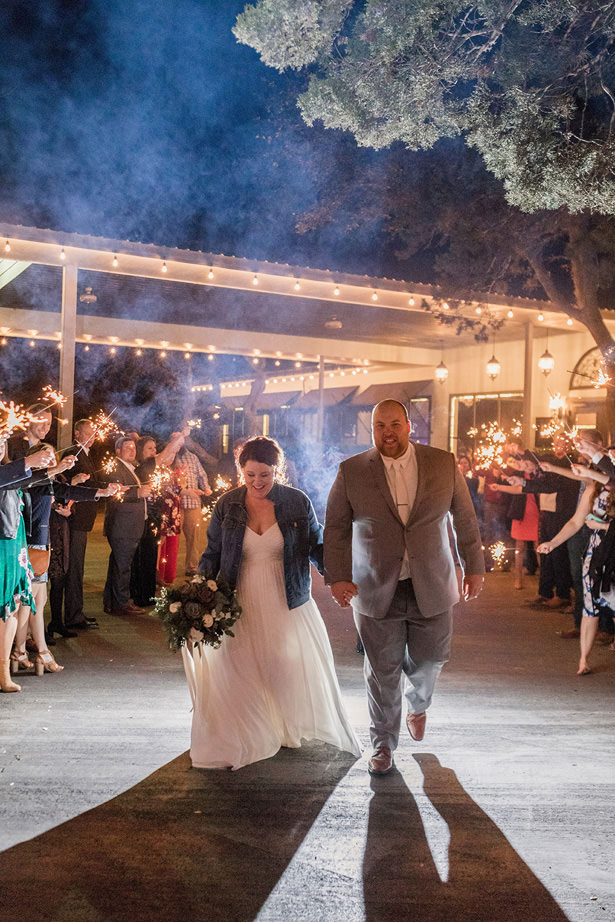 wedding sparklers - Holly Marie Photography