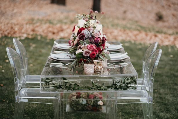 Acrylic Wedding Tablescape details - The Blushing Details / Quattro Studios