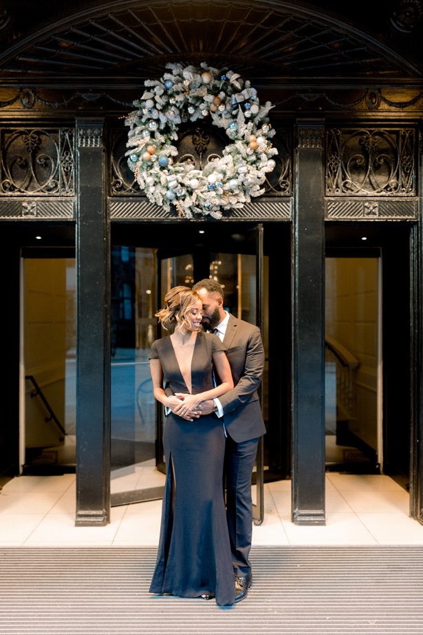 Glam Winter Engagement Photo- Lisa Hufford Photography