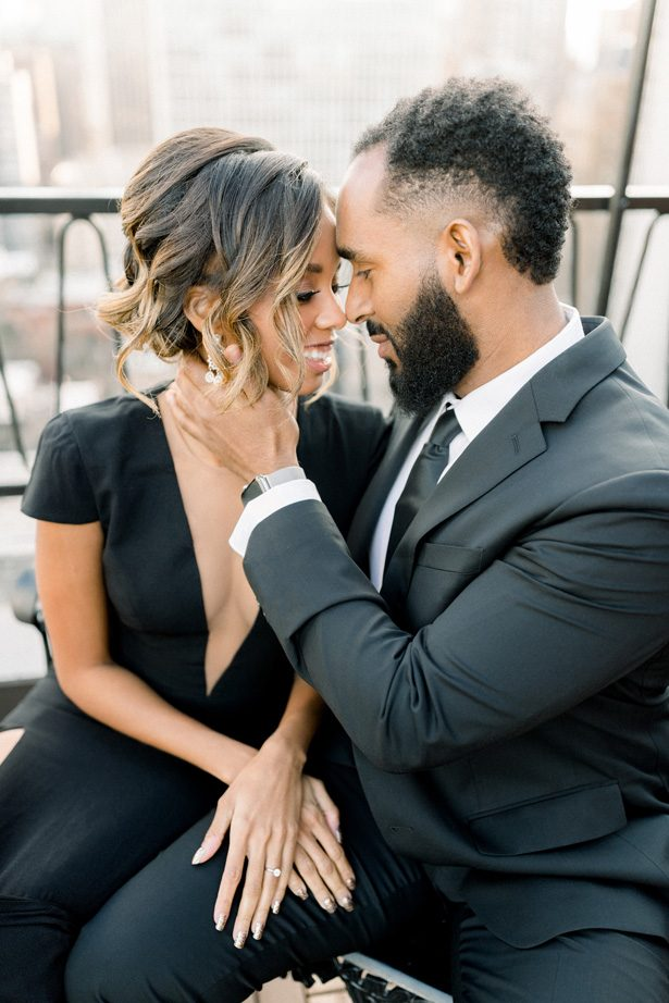 Ruftop glamorous Engagement Photos - Lisa Hufford Photography