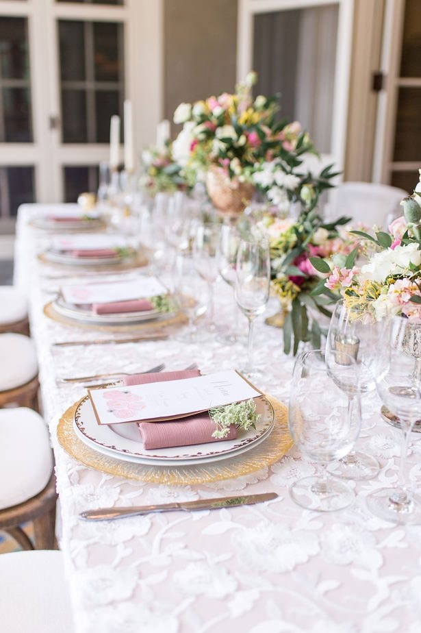 Elegant blush long wedding table 1