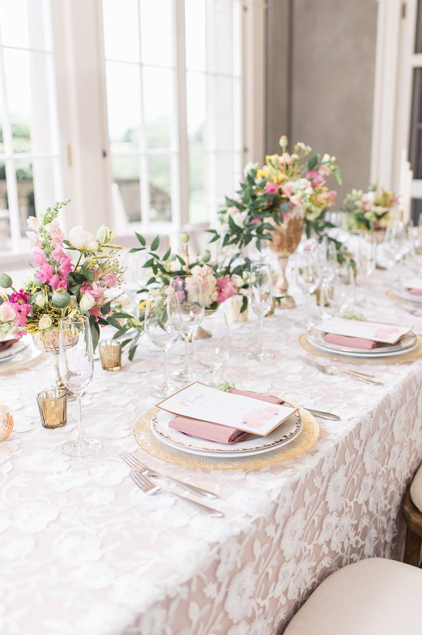 Elegant blush long wedding table 2