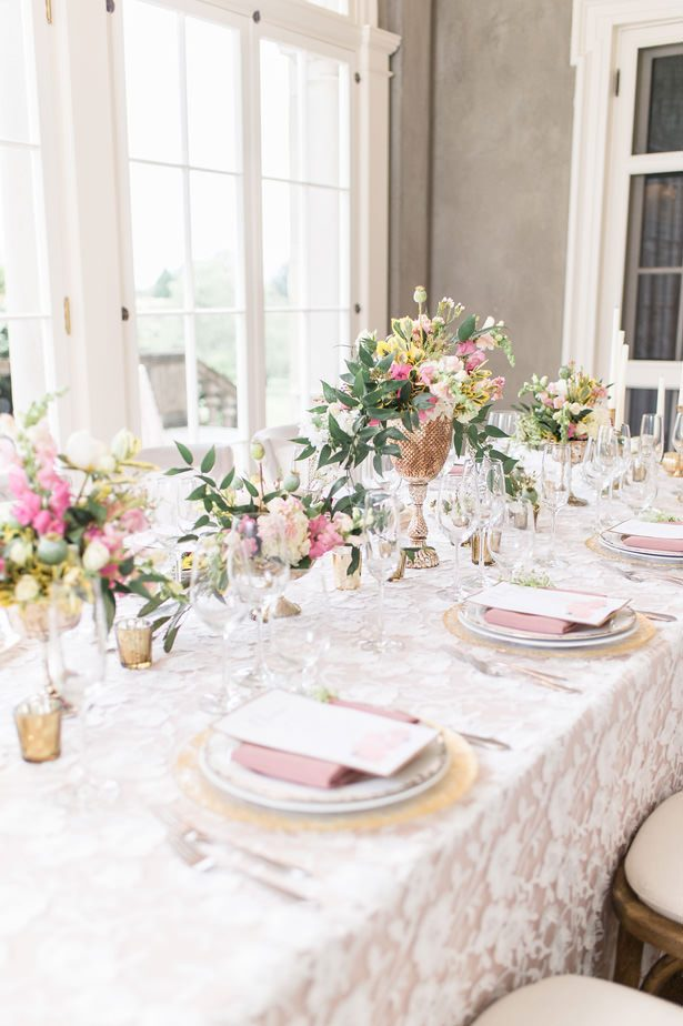 Elegant blush long wedding table 3