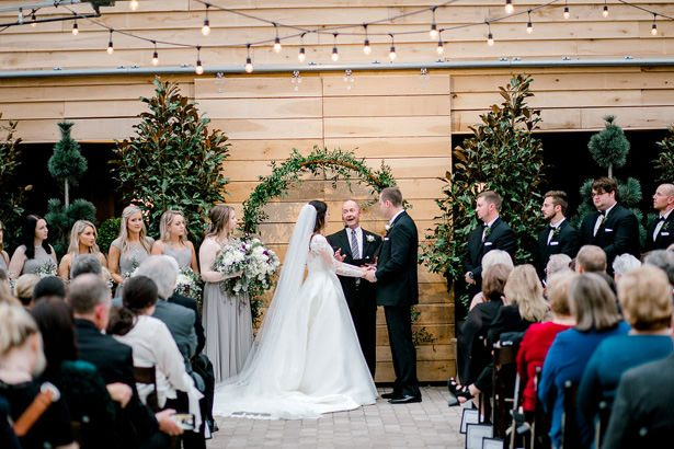 Greenhouse wedding ceremony - Honey + Bee Photography
